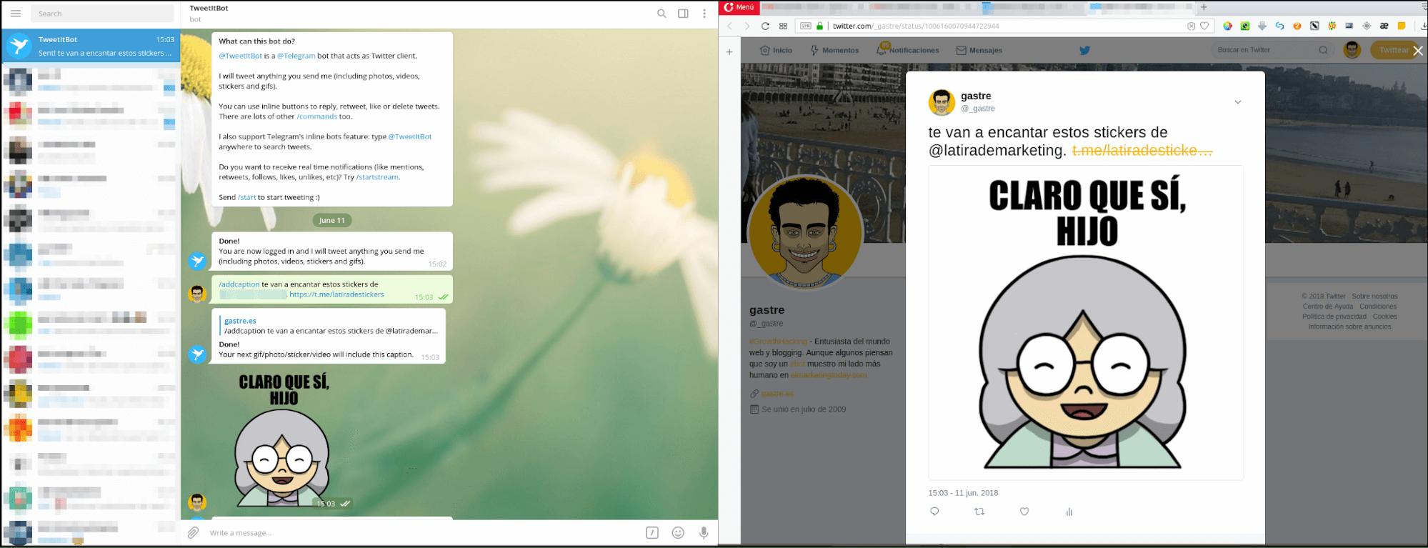 Bot de Telegram para Twitter