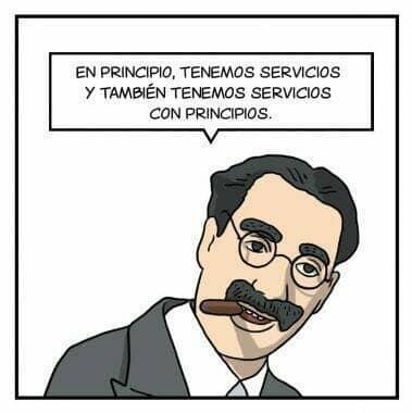 Servicios de La Tira de Marketing y Groucho